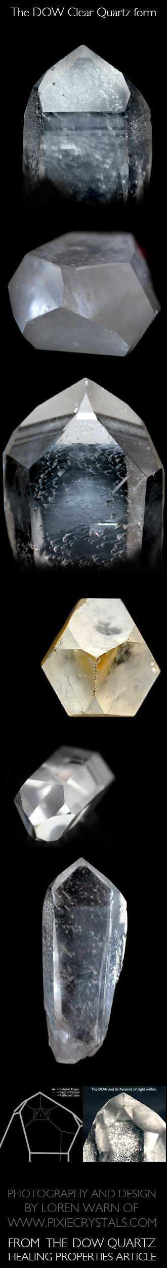 Dow Quartz crystals.. Sacred Geometry of Crystals