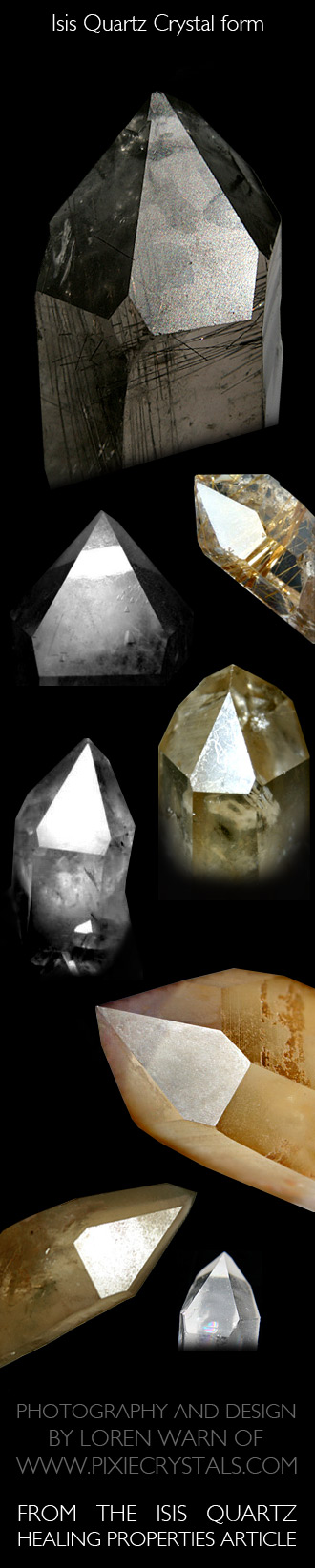 ISIS QUARTZ Crystals - Crystal Healing Properties of ISIS Quartz Crystals - 5-sided front face