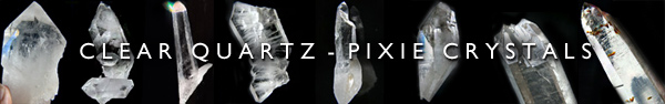 Pixie Crystals - CLEAR QUARTZ Crystals - Natural Healing Crystals