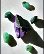 Sugilite with 5 Emeralds