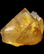 Yellow Fluorite pale blue phantom
