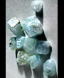 Aquamarine set of 10 crystals