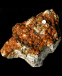 Orange Garnets totally covers Smoky Quartz