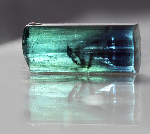Bi color Blue Green Tourmaline crystal