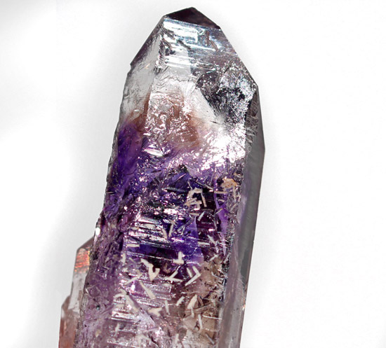 Brandberg Amethyst and Prenite Twin crystal