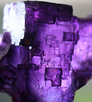 Cubic Purple Fluorite crystal