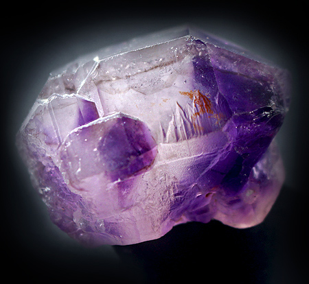 DT Amethyst Phantomed crystal