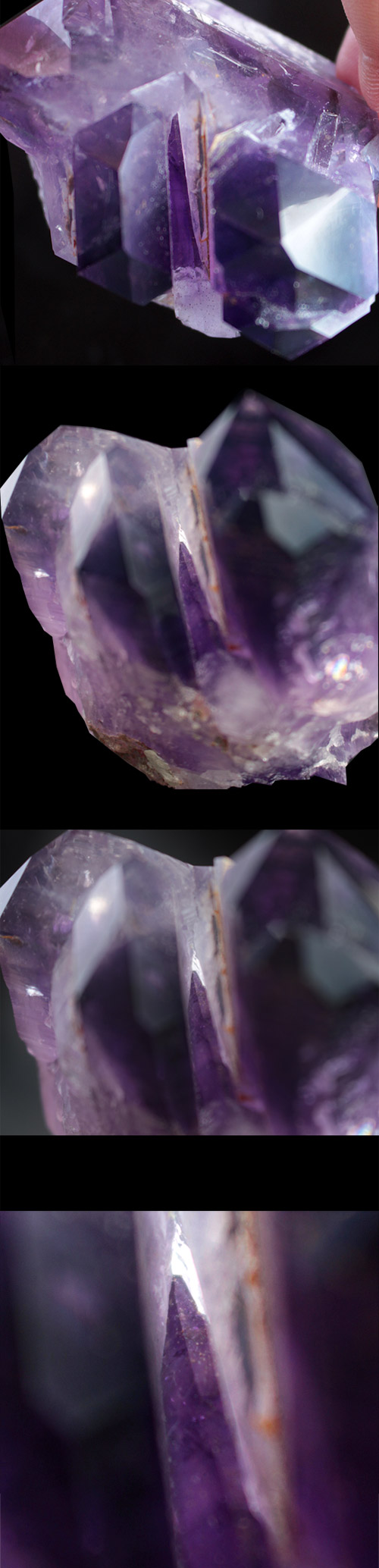 Large deep purple Brandberg Amethyst castle